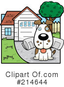 Royalty-Free (RF) Dog Clipart Illustration #214644