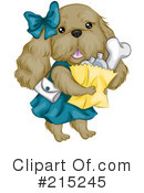 Royalty-Free (RF) Dog Clipart Illustration #215245