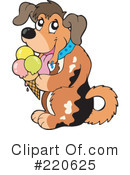 Royalty-Free (RF) Dog Clipart Illustration #220625