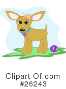 Royalty-Free (RF) Dog Clipart Illustration #26243