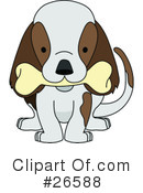 Royalty-Free (RF) Dog Clipart Illustration #26588