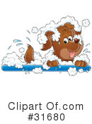 Royalty-Free (RF) Dog Clipart Illustration #31680