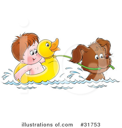 Swimming Clipart #31753 by Alex Bannykh
