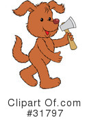 Royalty-Free (RF) dog Clipart Illustration #31797