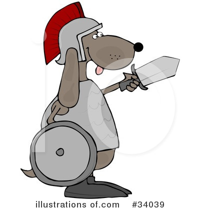 Royalty-Free (RF) Dog Clipart Illustration by djart - Stock Sample #34039