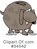 Royalty-Free (RF) dog Clipart Illustration #34042