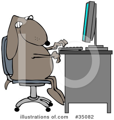 Typing Clipart #35082 by djart