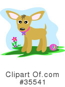 Royalty-Free (RF) Dog Clipart Illustration #35541