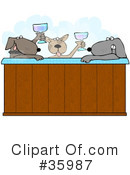 Royalty-Free (RF) Dog Clipart Illustration #35987