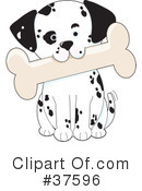Royalty-Free (RF) Dog Clipart Illustration #37596