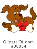 Royalty-Free (RF) Dog Clipart Illustration #38854