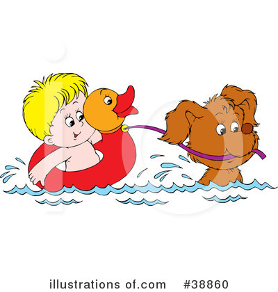 Swimming Clipart #38860 by Alex Bannykh