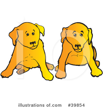 Royalty-Free (RF) Dog Clipart Illustration by Snowy - Stock Sample #39854