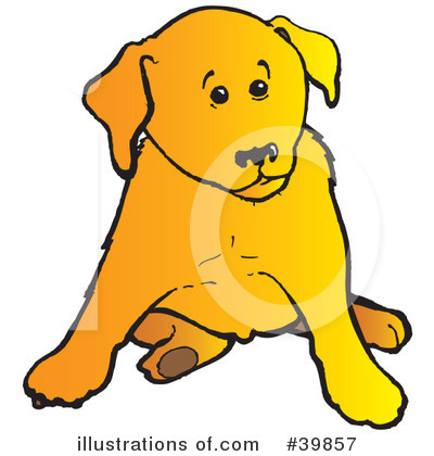Royalty-Free (RF) Dog Clipart Illustration by Snowy - Stock Sample #39857