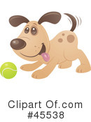 Royalty-Free (RF) Dog Clipart Illustration #45538