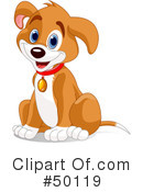 Royalty-Free (RF) Dog Clipart Illustration #50119