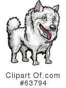 American Eskimo Dog Clipart #26515 - Illustration by David Rey