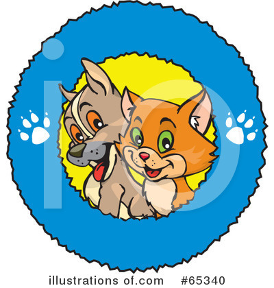 Kittens Clipart #65340 by Dennis Holmes Designs