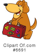 Royalty-Free (RF) dog Clipart Illustration #6691