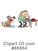 Royalty-Free (RF) dog Clipart Illustration #86864