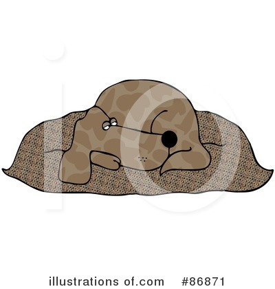 Royalty-Free (RF) Dog Clipart Illustration by djart - Stock Sample #86871