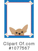 Royalty-Free (RF) Dog Frame Clipart Illustration #1077567