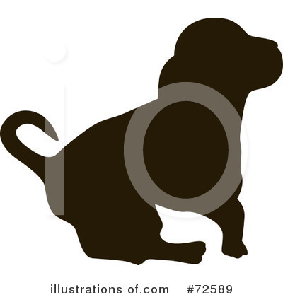 More Clip Art Illustrations of Dog Silhouette