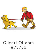 Dog Walker Clipart #79708 by Snowy