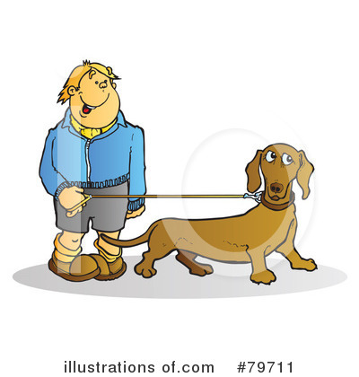 More Clip Art Illustrations of Dog Walker