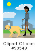 Dog Walker Clipart #90549 by Rosie Piter