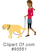 Royalty-Free (RF) Dog Walker Clipart Illustration #90551
