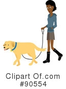 Dog Walker Clipart #90554 by Rosie Piter