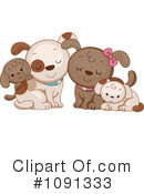 Royalty-Free (RF) Dogs Clipart Illustration #1091333