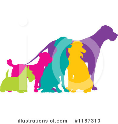 Royalty-Free (RF) Dogs Clipart Illustration by Maria Bell - Stock Sample #1187310
