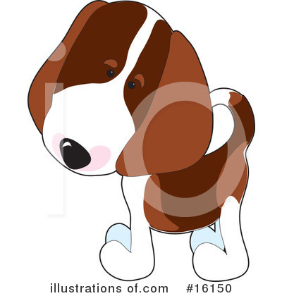 Puppy Clipart #16150 by Maria Bell