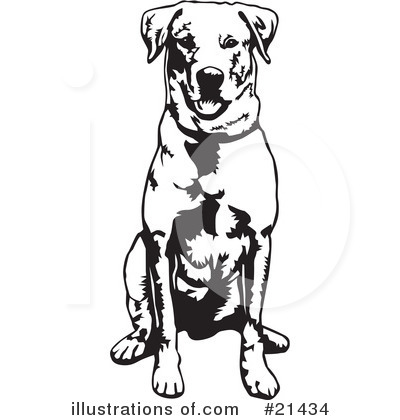 Labrador Clipart #21434 by David Rey