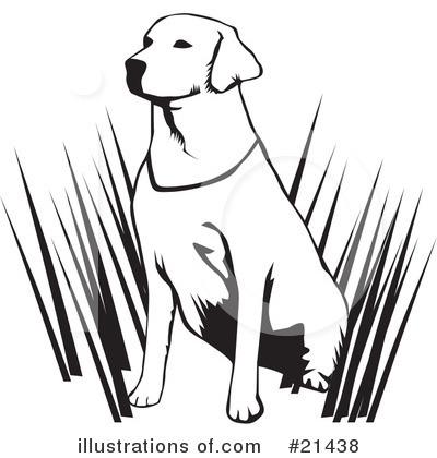 Labrador Clipart #21438 by David Rey