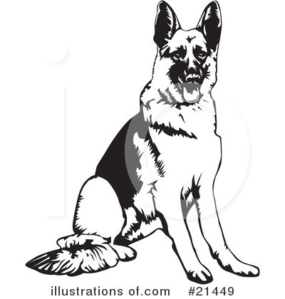 Royalty-Free (RF) Dogs Clipart Illustration by David Rey - Stock