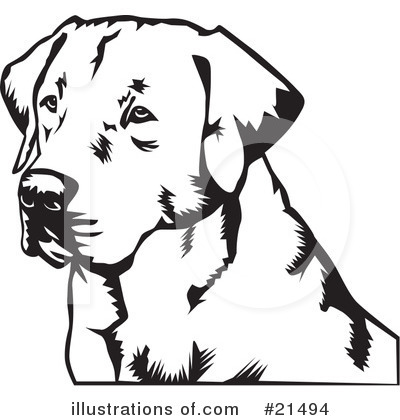 Labrador Clipart #21494 by David Rey