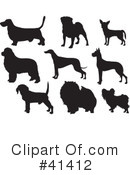Royalty-Free (RF) Dogs Clipart Illustration #41412
