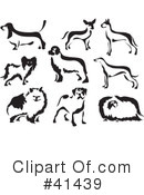 Royalty-Free (RF) Dogs Clipart Illustration #41439