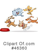 Royalty-Free (RF) Dogs Clipart Illustration #46360