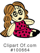 Royalty-Free (RF) doll Clipart Illustration #100664