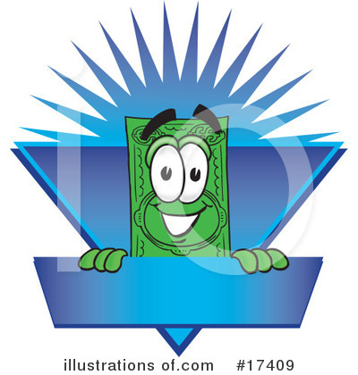 Dollar Bill Character Clipart #17409 by Toons4Biz
