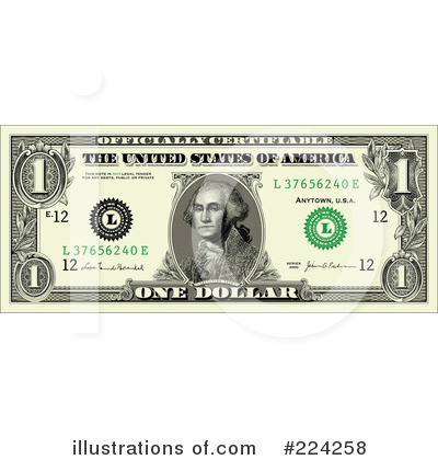 Royalty-Free (RF) Dollar Bill Clipart Illustration by BestVector ...