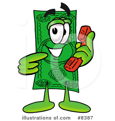 Dollar Bill Character Clipart #8387 by Toons4Biz
