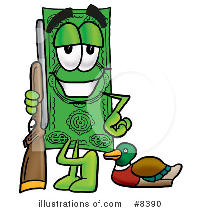 Dollar Bill Character Clipart #8390 by Toons4Biz
