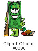 Royalty-Free (RF) dollar bill Clipart Illustration #8390