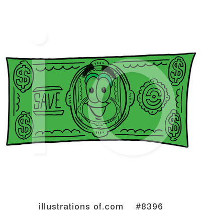 Dollar Bill Character Clipart #8396 by Toons4Biz