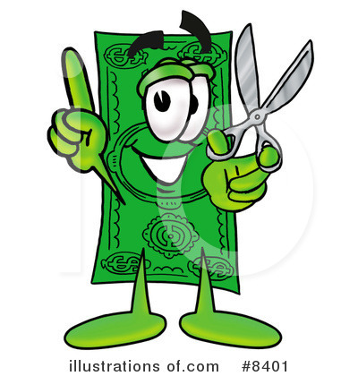Dollar Bill Character Clipart #8401 by Toons4Biz